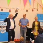 Wethouder Jan Jaap Kolkman trapt de recordpoging in Deventer officieel af